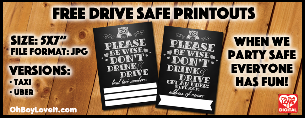 Oh Boy Love It Free Drive Safe Printouts