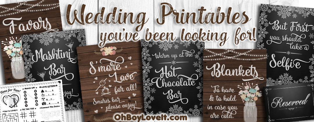 Oh Boy Love It wedding prinatable Sign Rustic Wedding Winter Wedding Smores Bar Mashtini Bar Blanket Sign Selfie Sign Hot Chocolate Bar