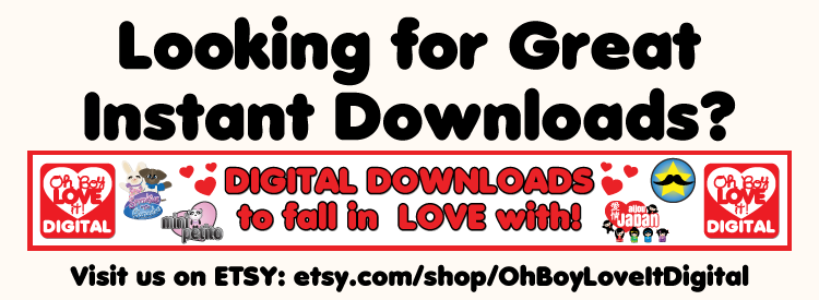 Oh Boy Love It Digital ETSY