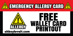 Oh Boy Love It Emergency Allergy Card Free Printout